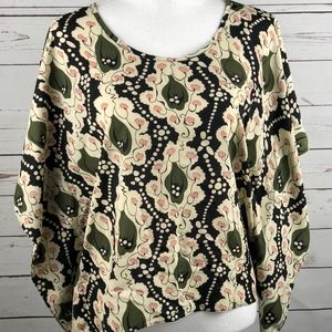 NWT Collective Concepts Olive Green Pink Bat Wing